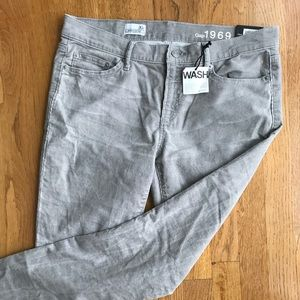 GAP low rise skinny grey corduroy jeans NWT